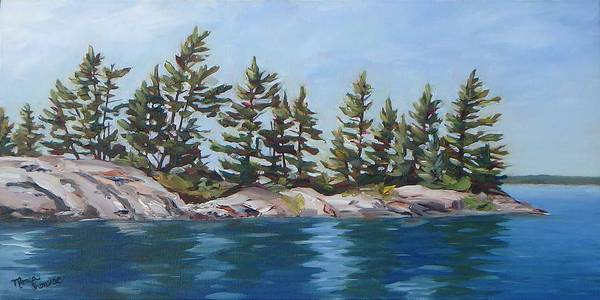 Painting - Shores Of Honeymoon Bay by Monica Ironside