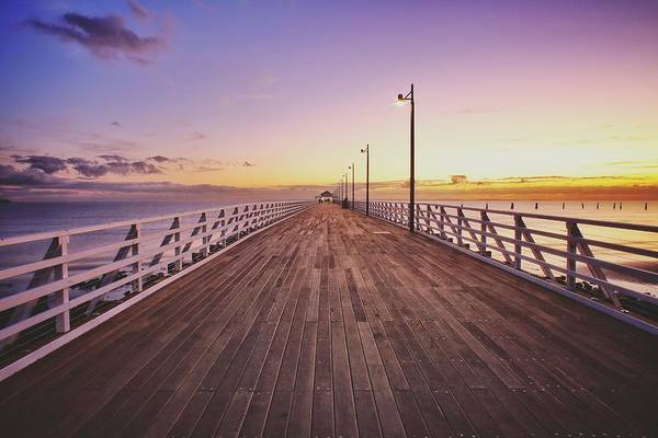 Photograph - Shorncliffe Pier At First Light  by Keiran Lusk