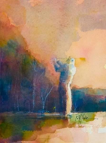 Golfers Painting - Short Game by Robert Yonke