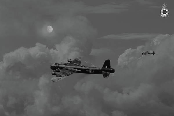 Wall Art - Digital Art - Short Stirling - 7 Sqdn Remembered by Pat Speirs