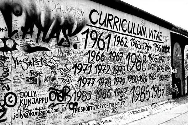 Wall Art - Photograph - Short Story Of The Berlin Wall by John Rizzuto