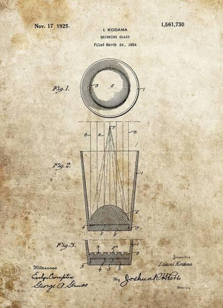 Digital Art - Shot Glass Patent by Dan Sproul