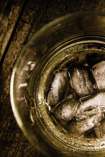 Scotch Wall Art - Photograph - Shot Of Whisky On The Rocks by Jorgo Photography - Wall Art Gallery