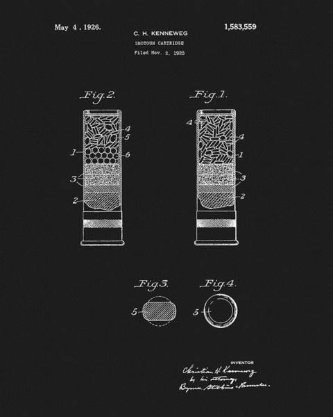 Mixed Media - Shotgun Cartridge Patent by Dan Sproul