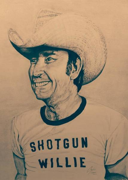 Wall Art - Drawing - Shotgun Willie by Charles Rogers