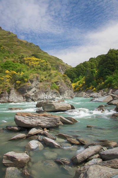Wall Art - Photograph - Shotover River Rapids New Zealand II by Joan Carroll
