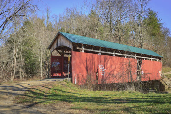 Photograph - Shoults/girl Scout Camp Covered Bridge by Jack R Perry
