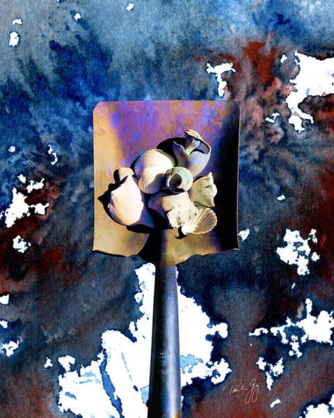 Wall Art - Mixed Media - Shovel With Shells No.1 by Paul Gaj