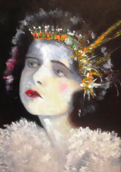 Lyle Painting - Show Girl Millie by Lord Frederick Lyle Morris - Disabled Veteran