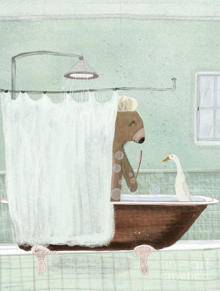 Wall Art - Painting - Shower Time by Bri Buckley
