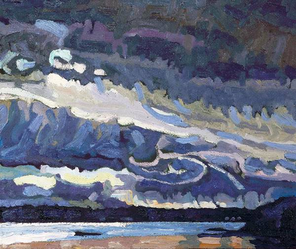 Stratocumulus Painting - Showers Behind The Cold Front by Phil Chadwick