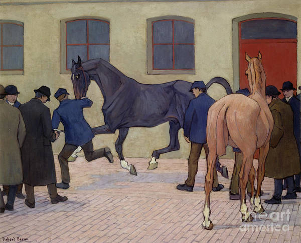 Wall Art - Painting - Showing At Tattersalls  by Robert Polhill Bevan