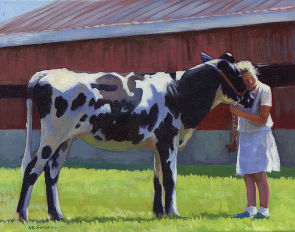 Cows Wall Art - Painting - Showing The Heifer by Alecia Underhill