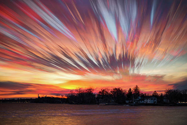 Wall Art - Photograph - Shredded Sunset by Matt Molloy