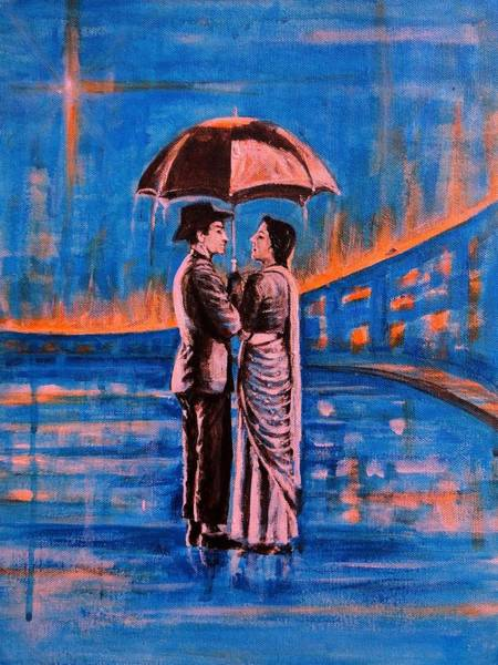 Usha Painting - Shree 420 by Usha Shantharam