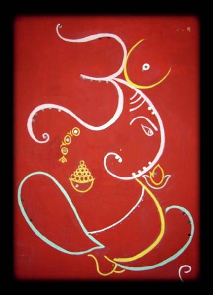 Ganesh Painting - Shree Ganeshji. by Manali Thakkar