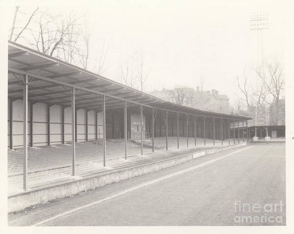 Wall Art - Photograph - Shrewsbury Town - Gay Meadow - Riverside Terrace West Stand 1 - March 1970 by Legendary Football Grounds