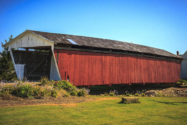 Photograph - Shreyer Covered Bridge by Jack R Perry