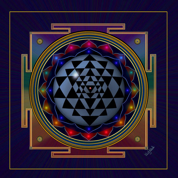 Digital Art - Shri Yantra by Vincent Autenrieb