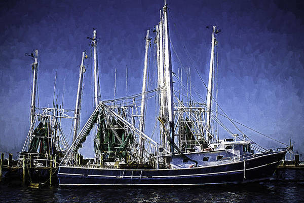 Photograph - Shrimp Boat Docked In Biloxi by Barry Jones