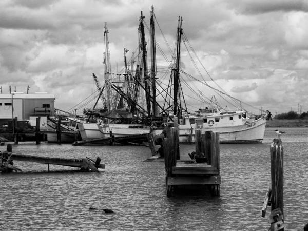 Photograph - Shrimp Boat Docks by Charles McKelroy