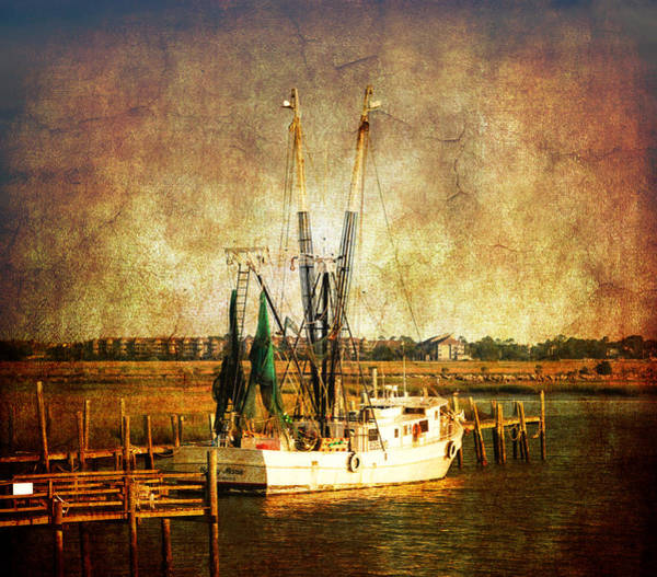 Photograph - Shrimp Boat In Charleston by Susanne Van Hulst