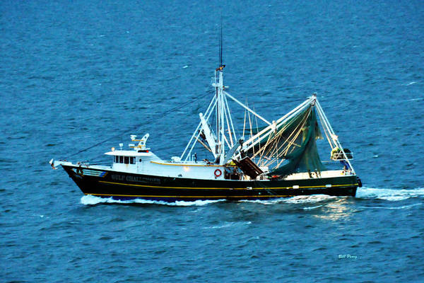 Wall Art - Photograph - Shrimp Boat In The Gulf by Bill Perry