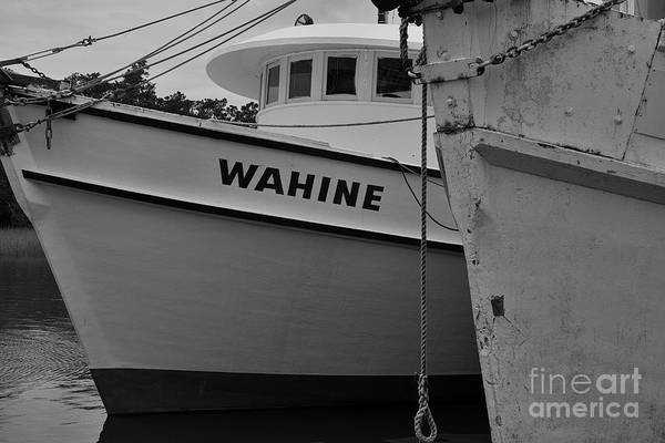 Photograph - Shrimp Boat Pilot House In Black And White by Dale Powell