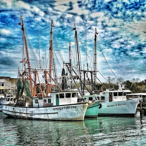 Photograph - Shrimp Boats by Donald Paczynski