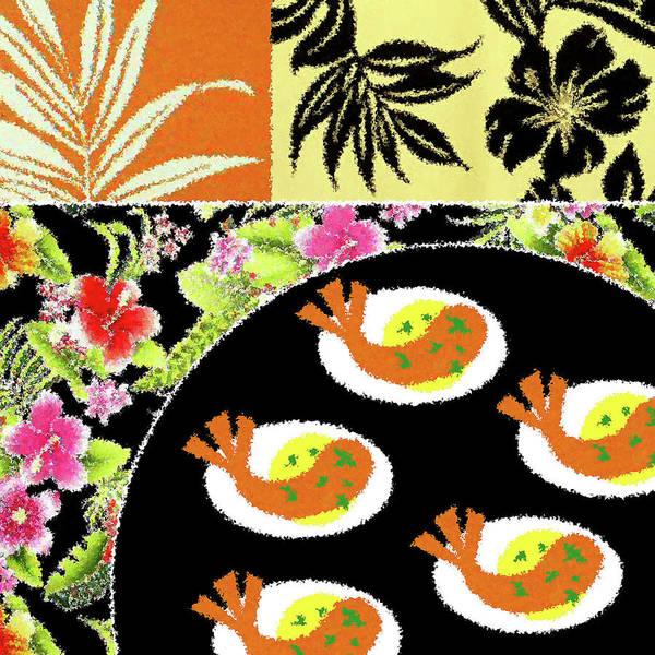 Shrimp Digital Art - Shrimp Deviled Eggs by James Temple