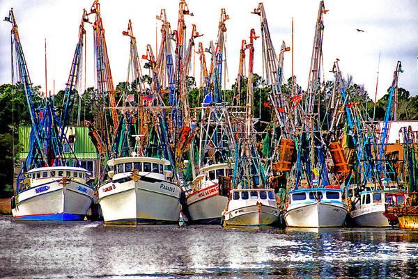 Village Creek Photograph - Shrimp Fleet by Joe Benton