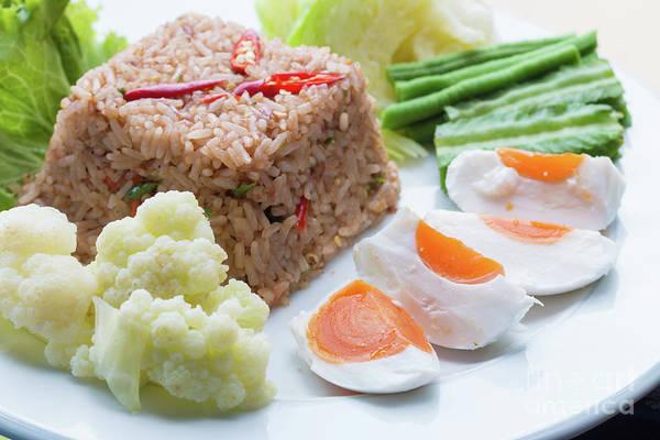 Wall Art - Photograph - Shrimp Paste Fried Rice by Atiketta Sangasaeng