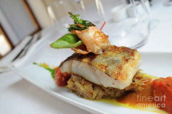 Wall Art - Photograph - Shrimp Tail And Fried Fish On Top Of Onions by Sami Sarkis