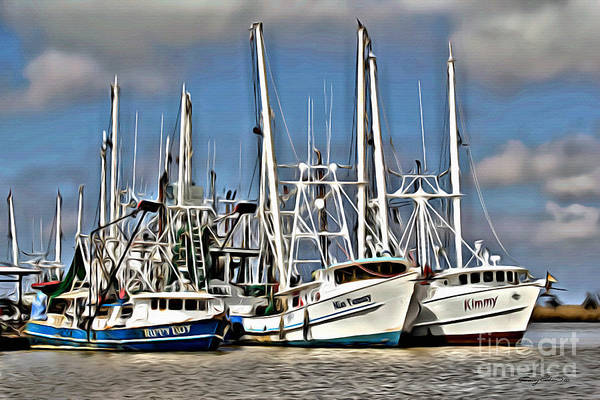 Wall Art - Photograph - Shrimpers by Carey Chen