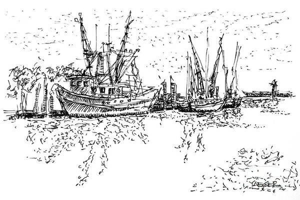 South Beach Drawing - Shrimpers Delight by Robert Yaeger
