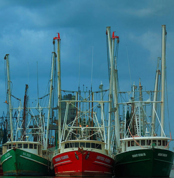 Photograph - Shrimpers by Mark Fuller