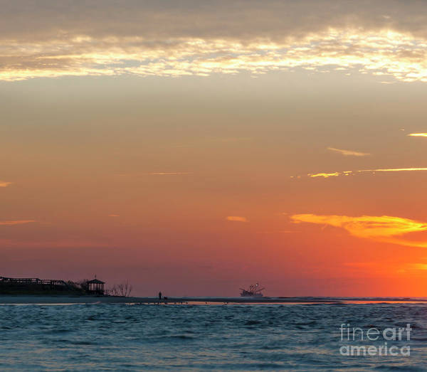 Photograph - Shrimpers Sunrise by Dale Powell