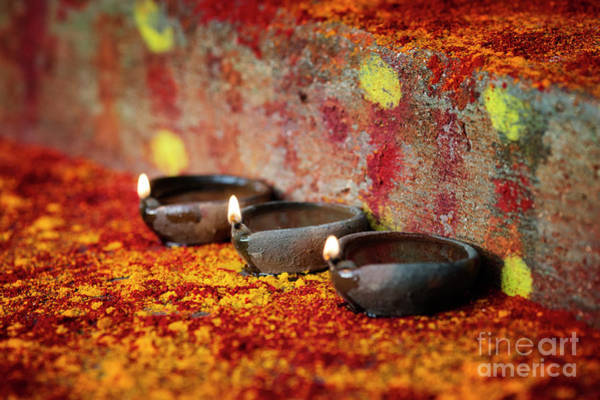 Oil Lamp Photograph - Shrine Light by Tim Gainey