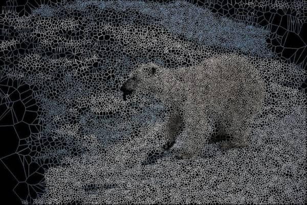 Digital Art - Shrinking Sea-ice by Stephane Poirier