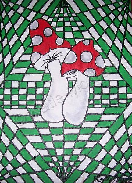 Wall Art - Painting - Shrooms by Katie Morgan