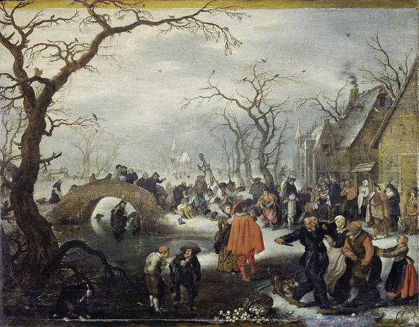 Commodity Painting - Shrove Tuesday In The Country by Adriaen Pietersz Van De Venne
