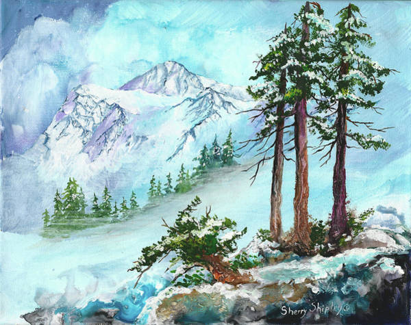 Painting - Shuskan's Winter Coat by Sherry Shipley