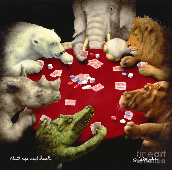 Hippopotamus Painting - Shut Up And Deal... by Will Bullas