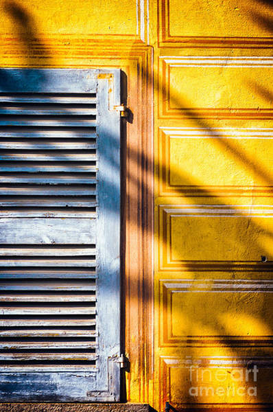 Photograph - Shutter And Ornate Wall by Silvia Ganora