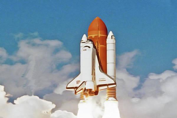 Painting - Shuttle by Harry Warrick