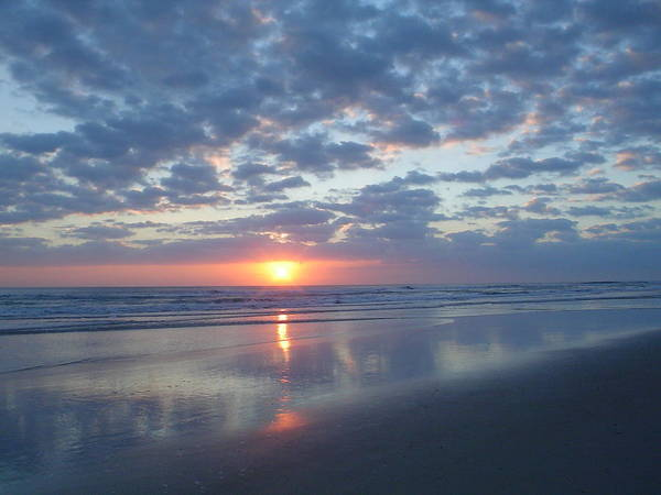 Flagler Photograph - Shy Sunrise by Cheryl Waugh Whitney