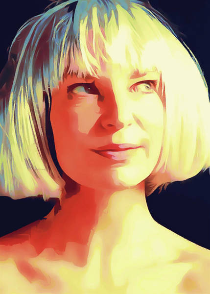 Country House Digital Art - Sia Portrait by Yury Malkov