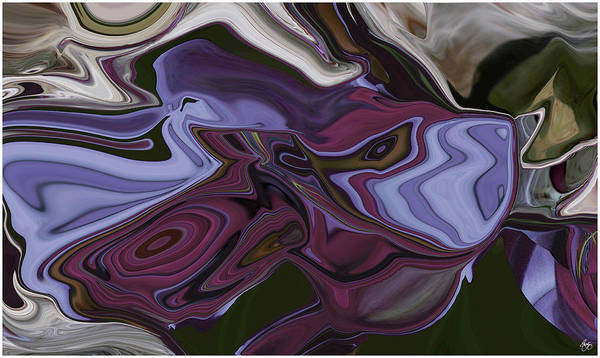 Photograph - Siamese Fighting Fish Abstract by Wayne King