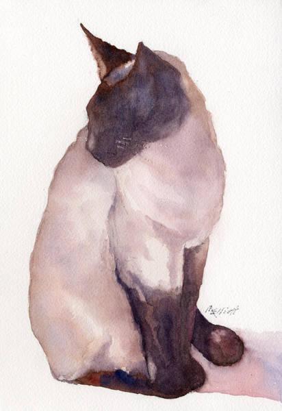 Siamese Cat Painting - Siamese by Marsha Elliott