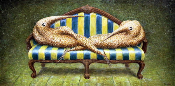 Siamese Twins Art Print by Lolita Bronzini